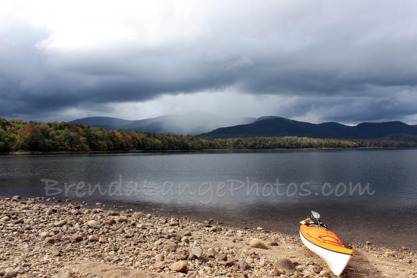 Indian Lake, Orange Kayak